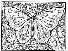 Small Picture Coloring Page Butterfly Free Printable Pages Inside For Adults