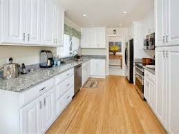 Bamboo Kitchen Flooring For Galley Kitchen With White Cabinets And |  VACATION HOME | Pinterest | Bamboo wood