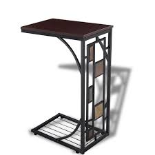 c shaped sofa end side table  end tables  accent tables  tables