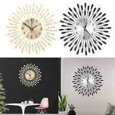 3d sunburst large wall clock crystal