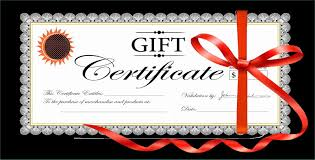 gift card formats 18 gift certificate templates excel pdf formats practical