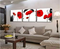 red poppies flower wall art canvas prints modern paintings wall pictures for living room frameless painting high quality paintingpictures with