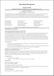 Bank Manager Resume Template Resumes Templates Online Resume Samples