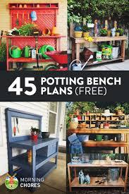 Gardener Potting Benches At WoodworkersWorkshopcomPlans For A Potting Bench