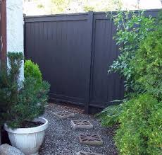 When it comes to black fences, they're generally made of wrought iron or  painted steel. And when it comes to wooden fences, they're generally  treated with a ...