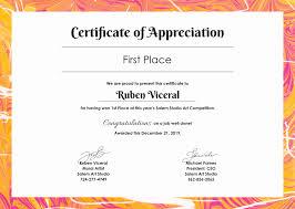 Free Downloadable Certificates Certificates Of Appreciation Template Unique Free