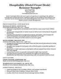 resume for front desk hotel clerk resume sample resume companion