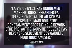 Citation Sur Le Matérialisme De Lee Kuan Yew