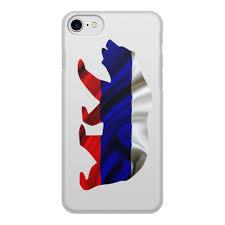 """Чехол для iPhone 7, объёмная печать """"Русский <b>Медведь</b> ..."""