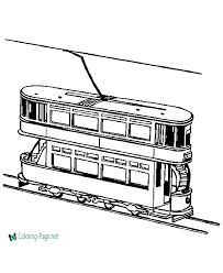 Rainbow train preschool counting game. Train Coloring Pages