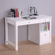 Get Quotations  Deluxe Wood Desk, White