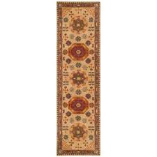 heritage beige multi 2 ft 3 in x 6 ft runner rug