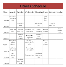 Monthly Workout Schedule Template Workout Schedule Template Word Plan Fitness