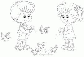 Small Picture Coloring Page Boy And Girl Coloring Home
