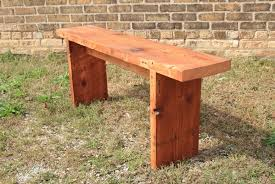 simple wooden bench design plans