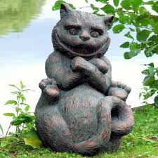 details about cheshire cat from alice s adventures in wonderland garden statue ornament