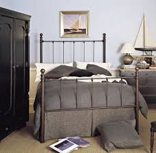 iron rod furniture. Gorgeous Bedroom Design Ideas With White Rod Iron Bed : Simple Decoration Brown Furniture M