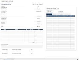 Microsoft Word Price List Free Purchase Order Templates Smartsheet