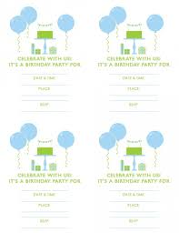 Boys Birthday Party Invitations Templates Free Blue And Green Boy Birthday Printables From Green