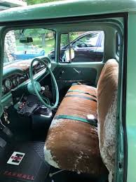 Cool cowhide truck seats | Big kid Crafts | Truck accessories, Truck ...