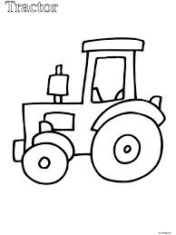 Kleurplaat Peuter Kleurplaat Tractor Kleurplatennl