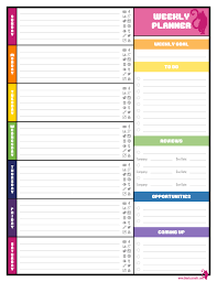 Editable Weekly Planner Template Templates Collections