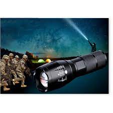 Đèn pin siêu sáng chống nước siêu sáng XML-16 cao cấp Tặng kèm ngay 1 Pin,  1 Đốc sạc, 1 đốc Freeship Bảo hành - Đèn pin Nhà sản xuất OEM