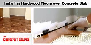 hardwood floor on concrete slab