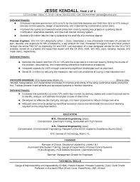 Senior Process Engineer Resume Sample