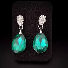 2018 emerald green drop earrings korean style waterdrop ba 216 silver plated rhinestones 2017 from shirleyforyou 14 08 dhgate com