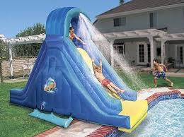 inflatable above ground pool slide. Swimming Pool Games \u0026 Toys, Very Fun Inflatable Above Ground Slide O