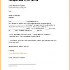 Example Job Offer Letter Refrence Valid Job Fer Letters - Us-Inc.co ...