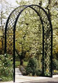 portofino romanesque garden arch steel