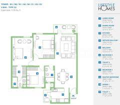 3bhk 2t 8 super area 1735 sq ft apartment