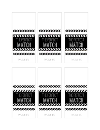 wedding diy match box favors with a free