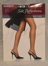 Details About Hanes Silk Reflections Pantyhose Non Control Top Size Ab Small Barely Black 40