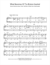 Jimmy Ruffin What Becomes Of The Brokenhearted Sheet Music Notes Chords Download Printable Guitar Chords Lyrics Sku 118219