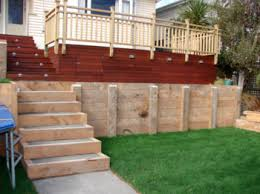 Small Picture Timber retaining wall design Wellington Kapiti Porirua