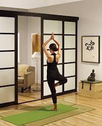 sliding glass room dividers yoga studio