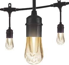 Enbrighten Cafe Lights 36 Feet Enbrighten Vintage Led Cafe String Lights Black 48 Foot Length 24 Impact Resistant Lifetime Bulbs Premium Shatterproof Weatherproof