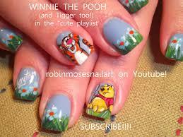 Bright Flower Nail Art Design Tutorial Nail Art Design Winnie The Pooh Nail Baby Shower Nail