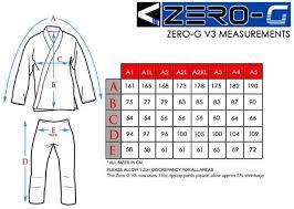 Tatami Belt Size Chart Tatami Zero G V3 Bjj Gi