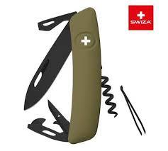 <b>Швейцарский нож SWIZA D03</b> AllBlack, 95 мм, 11 функций, темно ...