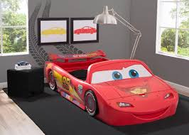 Disney Pixar Cars Convertible Toddler to Twin Bed with Lights and Toy Box