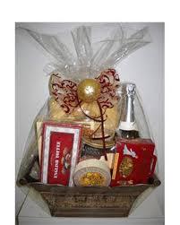 silver gourmet basket gift basket