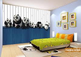 Beautiful Custom Kids Boys Cartoon Wallpaper Mural Panda Playing Bamboo Tv Sofa  Children Bedroom Living Room Cafe Restaurant Background In Wallpapers From  Home ...