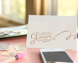 Letters Stationery Hand Lettered Stationery From Lindsay Letters