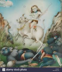 English Physical Description This Painting Depicts Shiva On The