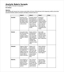 rubric word excel pdf format  basic analytic rubric sample