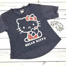 Hello Kitty Size Chart Sanrio Hello Kitty Girls Medium High Low T Shirt
